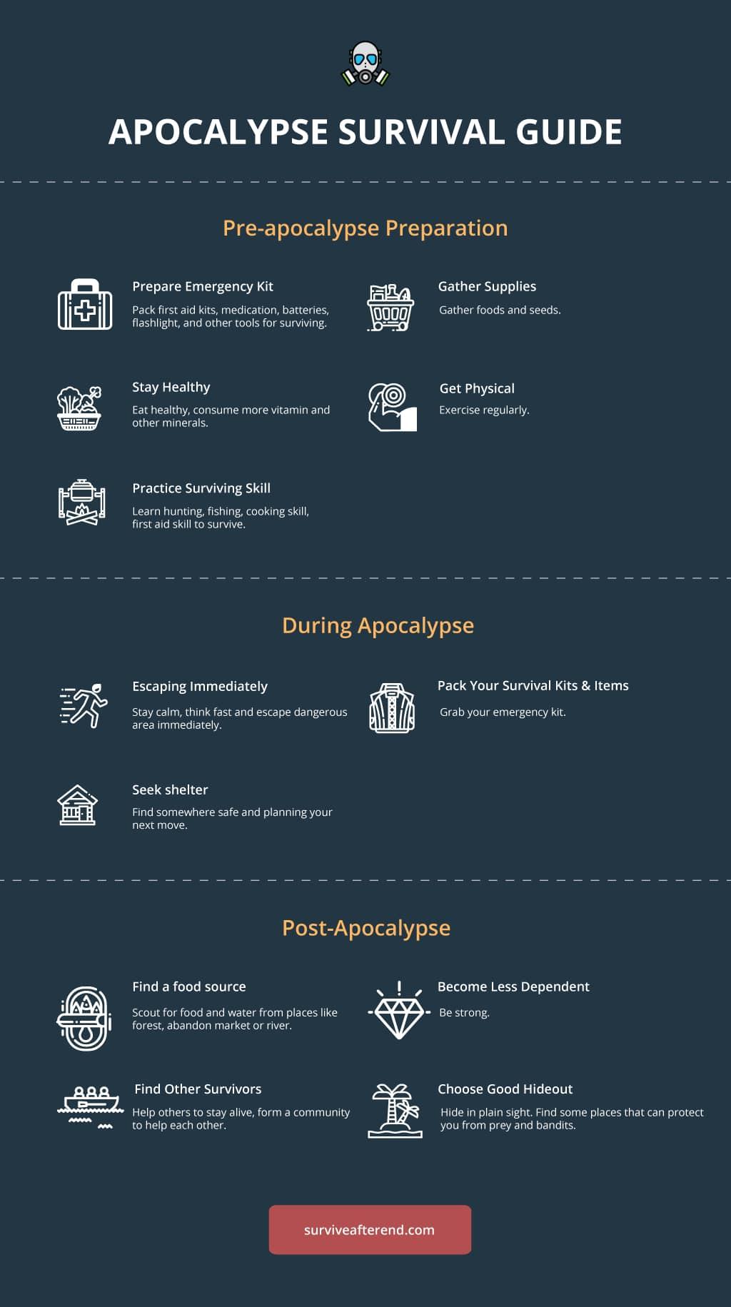 apocalypse survival guide infographic